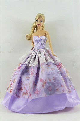 Fashion Princess Party Dress/Evening Clothes/Gown For Barbie Doll B08