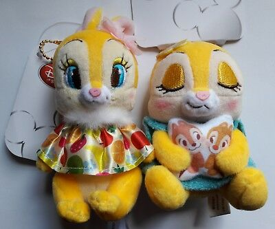 Disney Mrs Bunny and Clarice plush Keychain Set of 2 from Disney Store Japan