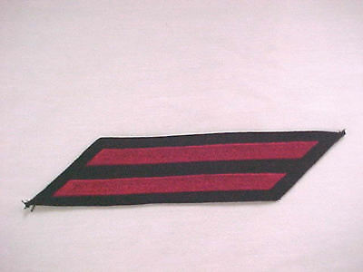 """US Navy - EM Hashmarks - Male - 2 stripes (8 Years) Red Embroidered  5 1/4"""""""