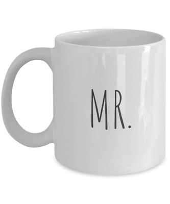 MR. Cute Coffee Mug - Funny Cup Wedding / Engagement Gift Groom / For Him / His