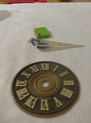 One Cuckoo Clock Wood Face Plate/Bird With Door. Parts Only Or Repairs