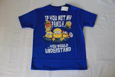 ecd83a740 New Boys Despicable Me Minions T Shirt Size 10 - 12 Large Top Tee Funny  Family