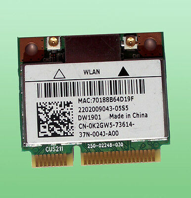 Dell Wireless-DW1901 Atheros Model AR5B22 CN-0K2GW5 802.11a/b/g/n Bluethoot 4.0
