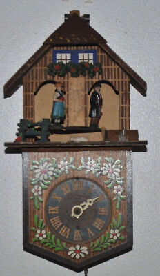 Vintage pre-WW2 Germany TOGGILI Cuckoo Clock W/Weather Station Parts Or Repair
