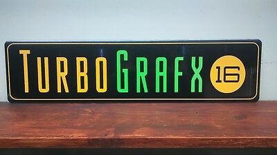 "Turbo Grafx 16 Logo Aluminum Sign  6""x 24"""