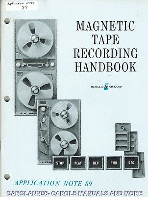 HP Application Note 89 MAGNETIC TAPE RECORDING HANDBOOK