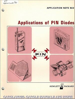 HP Application Note 922 APPLICATIONS OF PIN DIODES