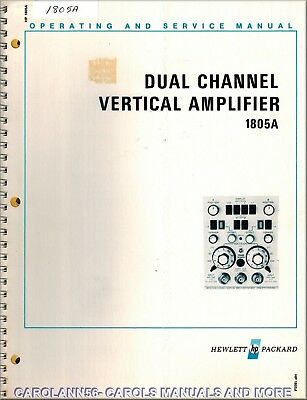 HP Manual 1805A DUAL CHANNEL VERTICAL AMPLIFIER