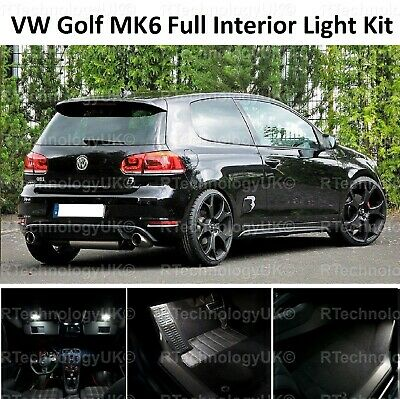 Premium Vw Golf Mkvi Mk 6 Mk6 Interior White Full Upgrade Led Light Bulbs Kit