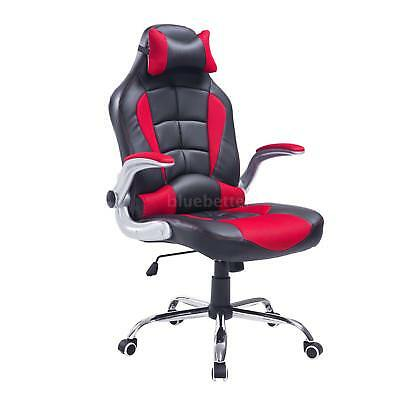 PU Leather Racing Office Chair Adjustable Recliner Gaming Computer Z1F6