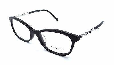 18fd0758848 NEW AUTHENTIC BURBERRY B 2231 3001 Black Women s Butterfly Eyeglasses 52mm  ITALY