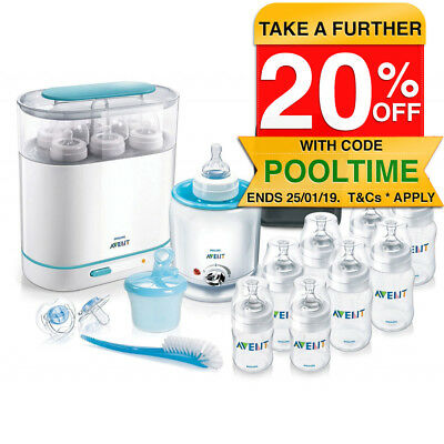 Philips Avent Classic + Bottle Solution Set Steriliser/Warmer/Soother/Dispenser