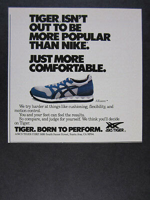 1984 Asics Tiger ALLIANCE Running Shoe photo vintage print Ad