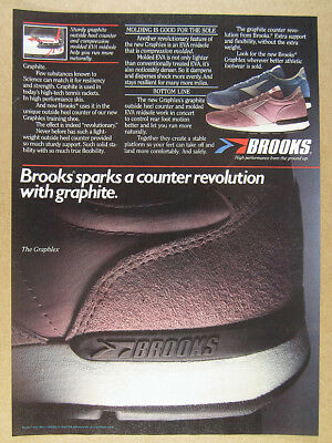 1984 Brooks GRAPHLEX Graphite Heel Running Shoes photo vintage print Ad