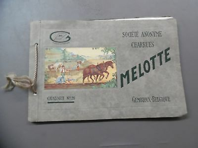 c.1940s MELOTTE Farm Implement Plow Catalog No. 21 Vintage Original Belgium VG
