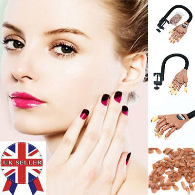 Adjustable Size MakeUp Nail Art Training Hand Practice Learning Model Refit Tips