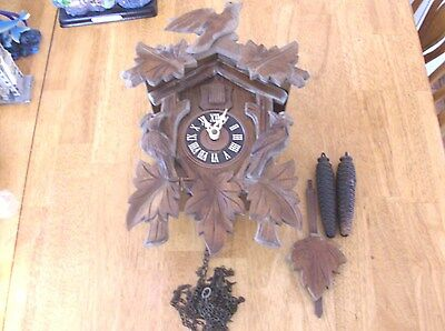 30 Hour  Cuckoo Clocks Case/Works/Pendulum/Weights   Parts Only Or Repairs