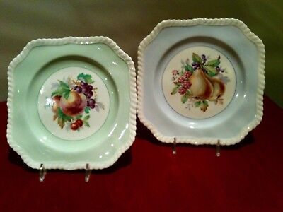 Set of two Johnson Brothers Old English California square salad plates