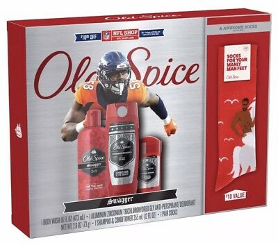 Old Spice Swagger NFL Gift Set w/ Body Wash Deodorant u0026 Sh&oo w/ & OLD SPICE SWAGGER NFL Gift Set w/ Body Wash Deodorant u0026 Shampoo w ...