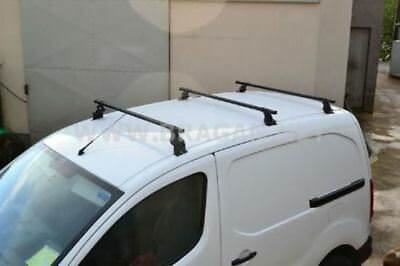 To Fit 2016 - 2019 Peugeot Partner Roof Rack Bars + Load Stops 3 Bar System