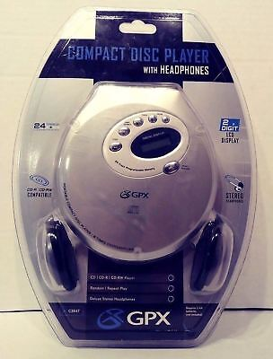 New Sealed GPX C3847 Compact Disc Player w/ Headphones