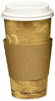 20 oz Paper Coffee Cups Hot Paper Cups with Lids and Sleeves 50 Pack, NO TAX New
