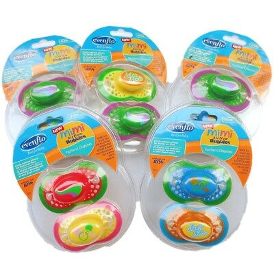 1 Set 2 Baby Kid Child Evenflo BPA-Free Airflow Pacifier Soother Nipple Teat Toy
