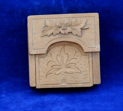 Folding Antique Black Forest Carved Pocket Watch Stand New Zealand Connection #2
