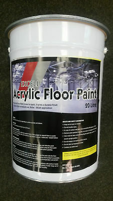 Acrylic Floor Paint ALL COLOURS 20ltrs