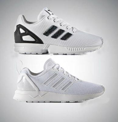 7bc23978c9f21 adidas Originals ZX Flux Infant Kids Boys Girls Trainers UK 10 to 1 White  shoes