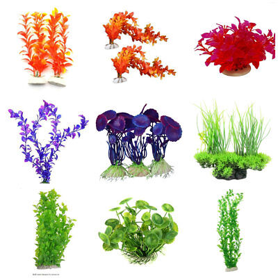 Aquarium plante aquatique eau plantes graines Fish Tank Decor Artificial plants