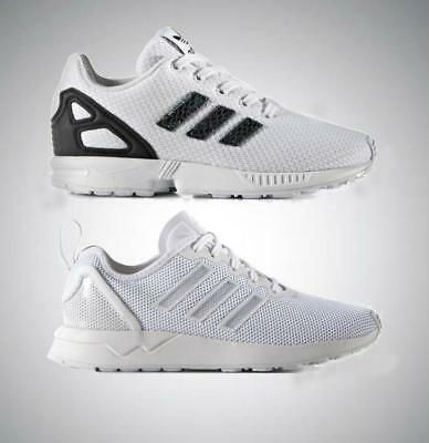 promo code bb645 5e679 adidas Originals ZX Flux Infant Kids Boys Girls Trainers UK 10 to 1 White  shoes