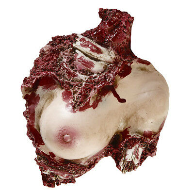ANGEFRESSENER TORSO # Halloween Körper Horror Grusel Party Fest Tisch Deko 00478