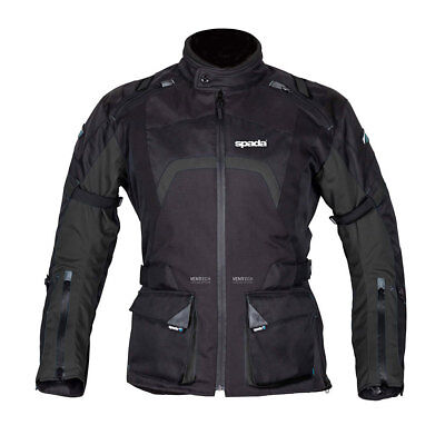 Spada Base Black Moto Motorcycle Motorbike Textile Waterproof Jacket | All Sizes