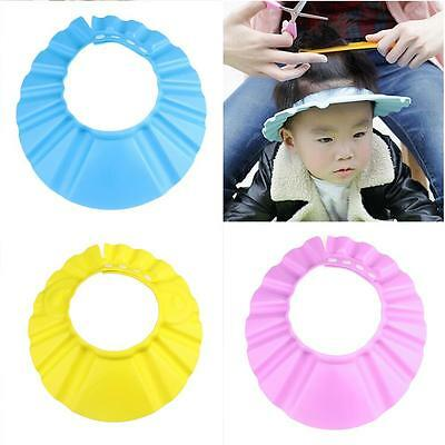 Baby Kid Toddler Adjustable Hair Wash Hat Shampoo Bathing Shower Eyes Shield DI