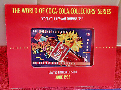 The World of Coca Cola Phone Card 10 Min-Sprint-Red Hot Summer 95 2nd Edition LE