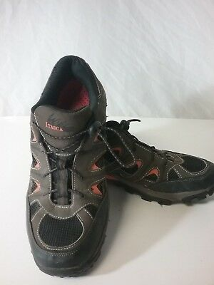 Men's Itasca Gulf Coast Shoes Hiking Brown with Orange Accents Size 10
