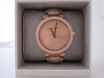 3c088a6b9e54 LADIES MICHAEL KORS Parker Champagne Acetate and Rose Gold-Tone Stainless  Steel -  115.50