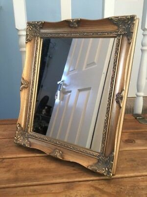 Beautiful Gold Coloured French Rococo Antique Style Mirror Freestanding