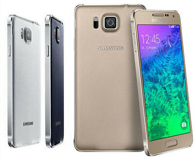 "Unlocked Samsung Galaxy Alpha SM-G850F 12MP 4.7"" 32GB Quad Core Android"
