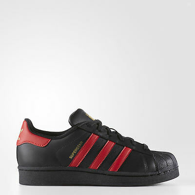 adidas Superstar Shoes Kids'  Red and Black FREE SHIPPING