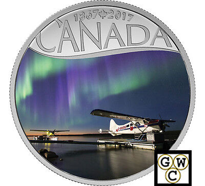2017$10Fine Silver Coin-Canada's150Th Float Planes On Mackenzie River(Nt)(17931)