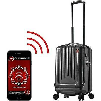 """Planet Traveler USA Smart Tech Case 20"""" Spinner Luggage Carbon PT001-20IN-PCFT"""