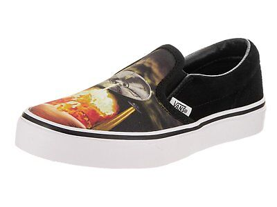 1b38eddb7875be VANS Classic Slip On Alien Attack Black White kids sz 3 GIRLS BOYS NEW YOUTH