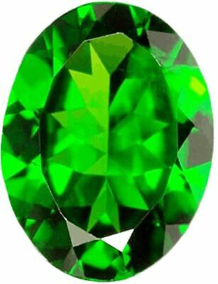 Natural Fine Rich Green Chrome Diopside - Oval - Russia - AAA Grade