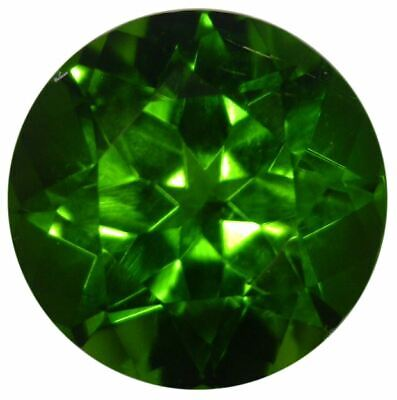 Natural Extra Fine Rich Green Chrome Diopside - Round - Eastern Siberia - AAA+ G