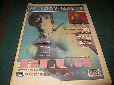 Melody Maker Magazine 6Th April 1991 - Blur Robert Smith Vic Reeves Stereo Mc`s