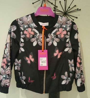Ted Baker Girls Floral Bomber Jacket Age 4