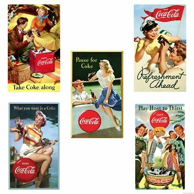 Pause For Coke Coca-Cola Picnic Wall Decal Set of 5