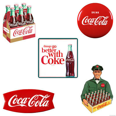 Drink Coca-Cola icons Fishtail Wall Decal Set of 5
